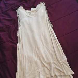 Off White Long Tank Top - Medium